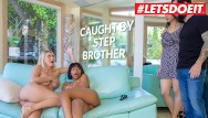 Tommys black lesbian Scam angels - lesbian stepsister natalia starr caught by her step brother