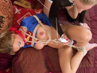 Supergirl vs Evil Superheroine Cosplay Tied up and fucked!