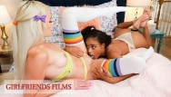 Lockerroom lesbian Girlfriendsfilms - cheerleader slumber party leads to naughty games