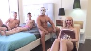 Milf cougar gangbang orgy Pregnant milfs fantasy is being gangbanged by 3 cocks