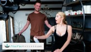 Facial massage lymph Sarah vandella gives a pounding gift to her military stepson