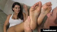 Kataleena feet 8thstreet latins Hot tan brunette leena sky gets her sweet feet worshiped foot fucked