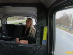 Fake Cab Torrid Platinum-blonde Cougar Victoria Unspoiled Banged In Back Of A Taxi