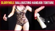 Free man gloryhole pics Gloryhole ballbusting military cock balls handjob torture era
