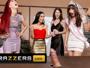Brazzers - Horny Lexi Luna & Tia Cyrus fuck the stripper at a party
