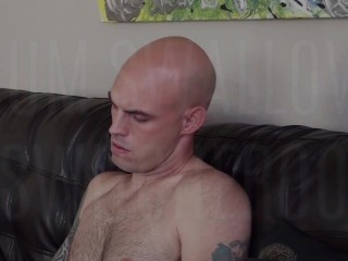 Facial Cum Swallow Switcheroo – Blond Bear Sucked Off While Licking Hot Cum Collector