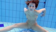 Jim swims in a pool of piss Underwater swimming indoor pool sexy babe zuzanna