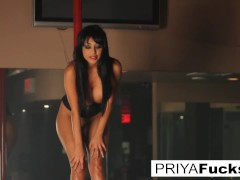 Priya Rai Rides The Sybian Saddle At The Club!