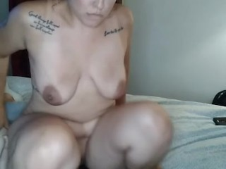 Milf rides dick to get bent over for creampie