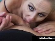 Hottest Milf Julia Ann Fucks Cock & Gets Her Cum!