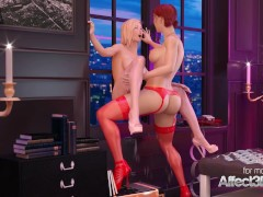 Lesbian futanari babes hot sex in Paris