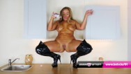 Dogs wife beth nude Leather boots and messy oil with beth at babestation