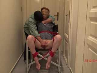 Chair Bondage for Jil with multiple orgasms – Short Version