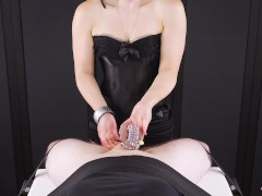 Chastity Box Let Out – Edging Hand-job With Jizz Blocking Point Of View | Era