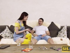 SIS.PORN. With help of cash smart stud finally seduces cute stepsister