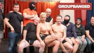 Cum eating gangbang sluts Boys gangbanging a real german slut