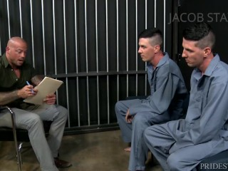 Desperate Prisoners Fuck Older Probation Officer To Lower Fines – Men Over 30