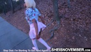 Teen thongs exposed Msnovember public slut walking after nailing her stepfather in the woods, exposing thong outside