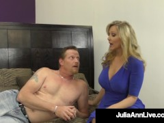 Busty Dom Cougar Ms. Julia Ann Tells You When You Can Cum! Joi!