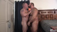 Hot gay bear pics Hunk brad kalvo and daddy silver bear in a hot fuck session