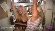 Nudist club lancaster ca Two hot blonde freaks get naked in club kitchen