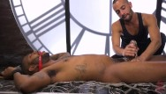 Photo gay bondage Thick uncut rookie cop gets fucked with their own stick
