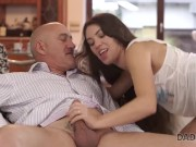 DADDY4K. Lassie is interested in ass-fucking action with old male
