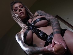 Karma Rx Kick Knuckles And Gapes His Bulls Eye With A Strapon