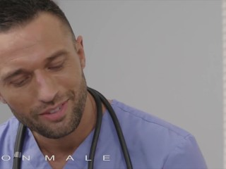 Icon Male – Doctor Examine The Patient In A Hard Way