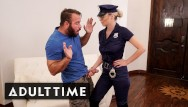 Natalia blond porn vids Busty blonde babe in uniform caught guy masturbating