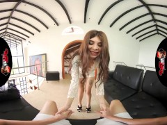 Vrlatina- Pretty Brazilian Teenie Strapped Up Firm Shagging - Vr