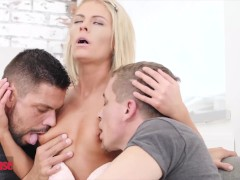 Doghouse - Euro Blond Claudia Macc Luvs Deep Anal Invasion 3ways With Hefty Cock