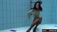 Brass strip inlays Swimming pool teenie vera brass strips in the pool