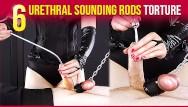 Orgasm sounds man 6 urethral sounding rods insertion femdom handjob era