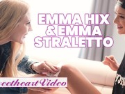 SweetHeart - Skinny pale lesbian Emma Hix eats out small tit blonde Emma Starletto