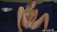 Breast enhancement procedure Sexy blonde with big tits uses her vibrator to enhance her orgasm