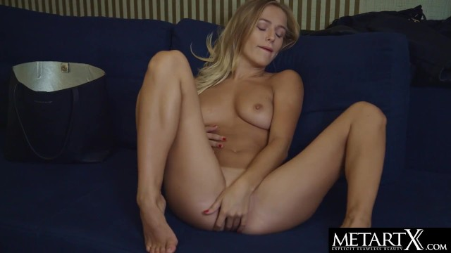 Sexy blonde with big tits uses her vibrator to enhance her orgasm