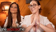 Her breasts grew Hot milf stepmother is seduced by her big breasted religious teen - syren de mer, nickey huntsman