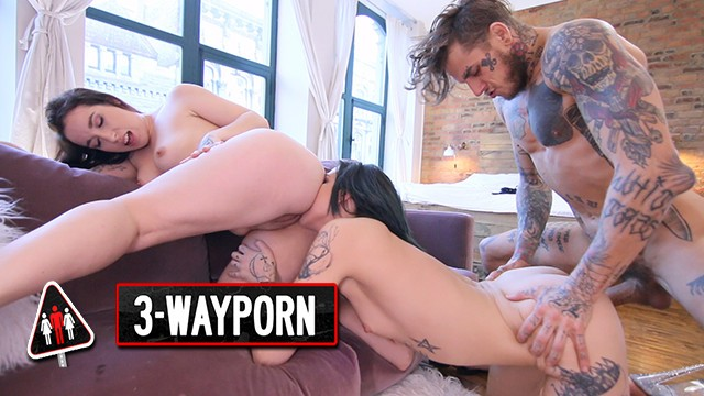3-Way Porn - 3 Teen Double Blowjobs