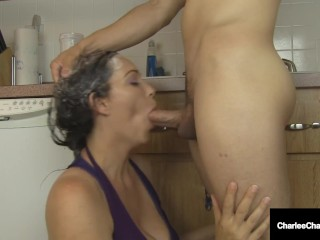 Big Boobed Milf Charlee Chase Adores Sucking Dick & Washing Her Hair!