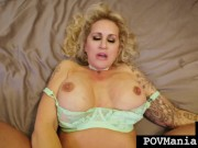 Big Boobed Big Booty Ryan Conner Gets Face & Pussy Fucked By Miles Long POV