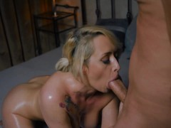 Busty Super-fucking-hot Light-haired Get Super-fucking-hot Rock-hard Backside Pounded