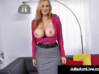 Exquisite Busty Milf Julia Ann Stuffs Her Old Mouth With Rock Arduous Shaft!