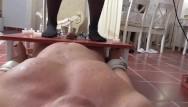 Bikini wax victoria Asian domina enjoy slaves pain with hot wax and cbt