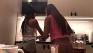 Hot sexy curly brunettes Hot sexy leon lambert girl sylvias bending over in front of voyeur hidden cam in the kitchen no panties shos all she has int