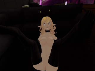 I let a simp fuck me IRL, while I'm playing VRCHAT (POV)