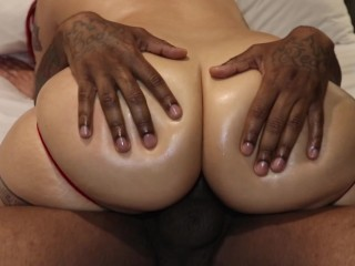 Santana Red Rides BBC and gets Creampied