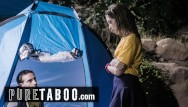 Camping blowjob Cheating teen has sex with big dicked guy while camping