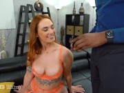 Trickery - Thick Redhead Tricked Into Threesome With Black Cocks