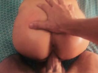 Shy stepsister takes hard cock rough & swallows load – POV